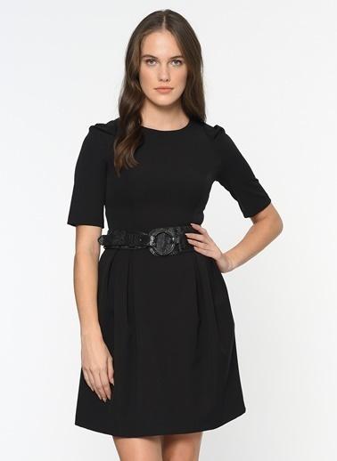 Kısa Kol Kloş Elbise-Bovona